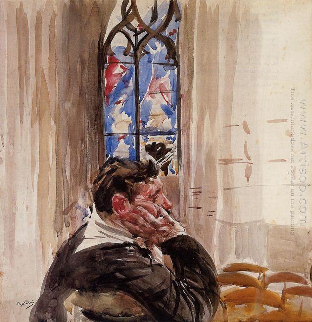 Portrait Of A Man In Church 1900