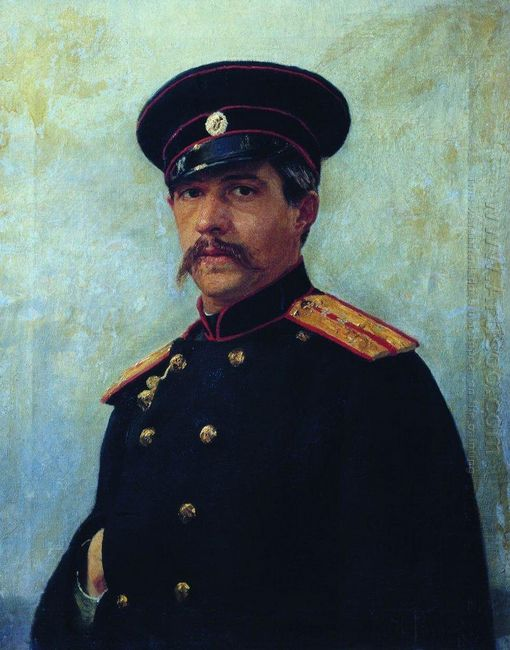 Portrait Of A Military Engineer Captain A Shevtsov Brother Of Th