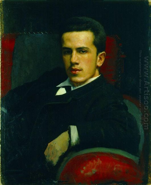 Portrait Of Anatoly Kramskoy The Artist S Son 1882