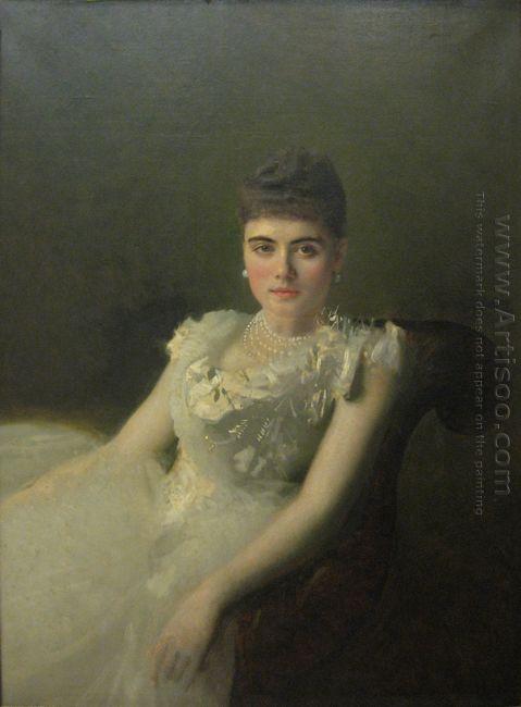 Portrait Of Anna Von Derviz 1881