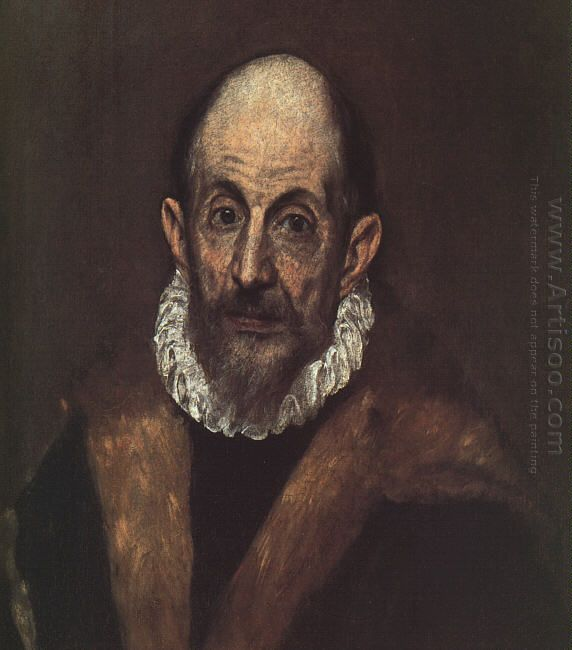 Portrait Of An Old Man Presumed Self Portrait Of El Greco