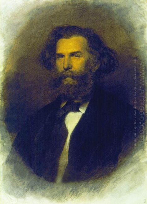 Portrait Of A P Bogoliubov 1869