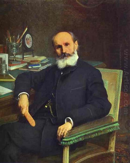 Portrait Of Art Critic Pavel Kovalevsky 1886
