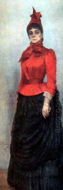 Portrait Of Baroness Varvara Ikskul Von Hildenbandt 1889