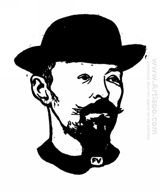 Portrait Of Belgian Symbolist Poet Max Elskamp 1898