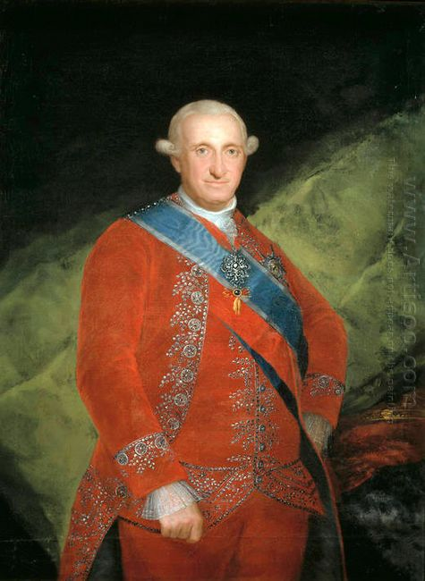 Portrait Of Charle Iv Of Spain 1789