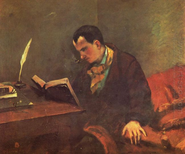 Portrait Of Charles Baudelaire 1849