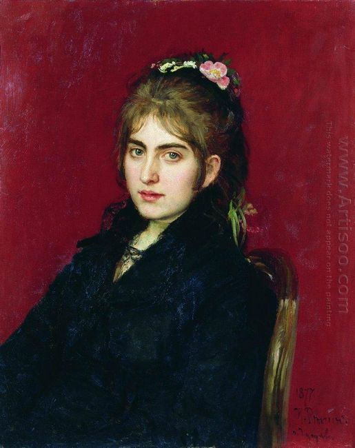Portrait Of Chuguev Resident S L Lyubitskaya 1877