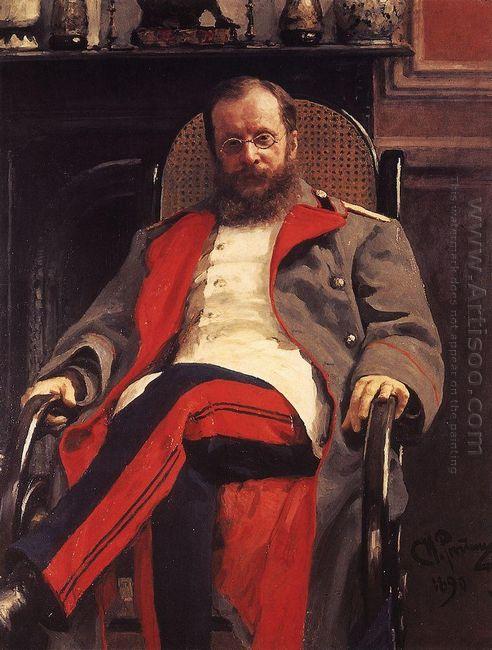 Portrait Of Composer Cesar Antonovich Cui 1890
