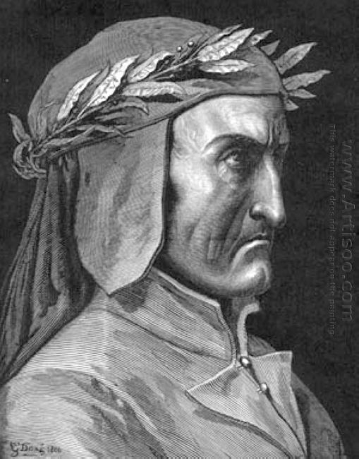 Portrait Of Dante Alighieri 1860