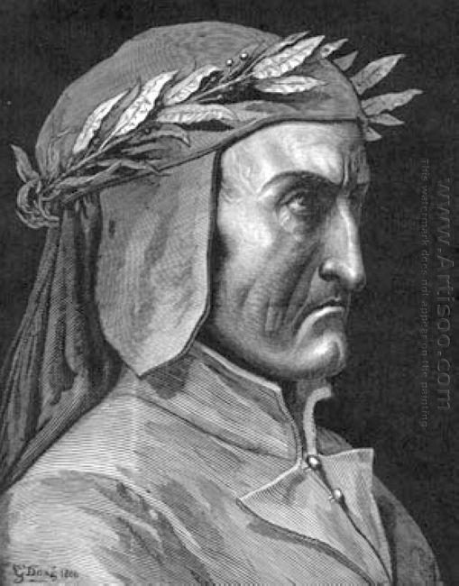 Portrait Of Dante Alighieri 1860