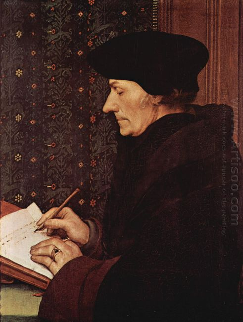 Portrait Of Desiderius Erasmus 1523