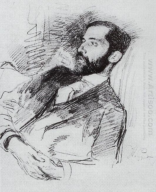 Portrait Of Dmitri Sergueyevich Merezhkovsky