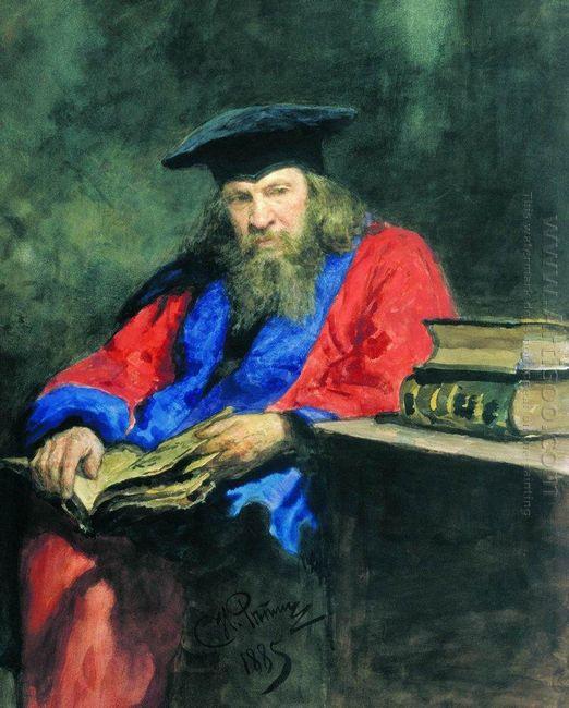 Portrait Of Dmitry Mendeleev 1885