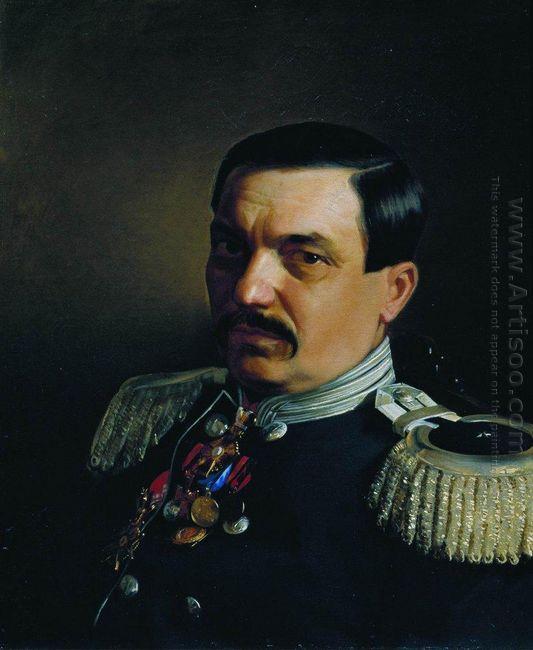 Portrait Of Doctor Constantine Franzevich Yanitsky 1865