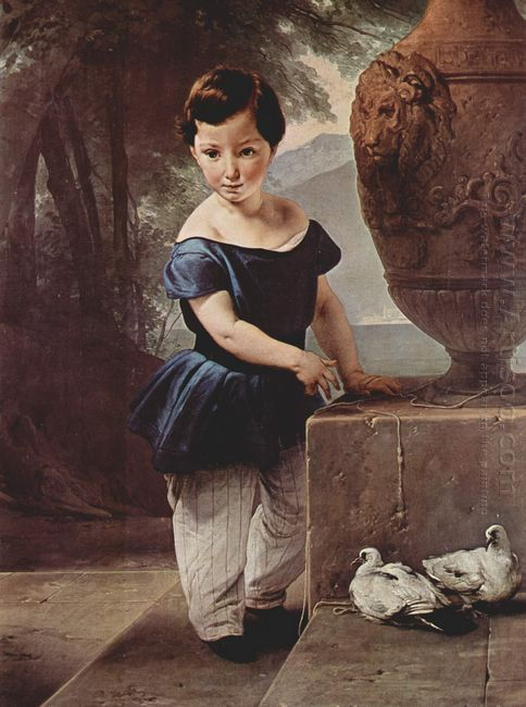 Portrait Of Don Giulio Vigoni As A Child 1830