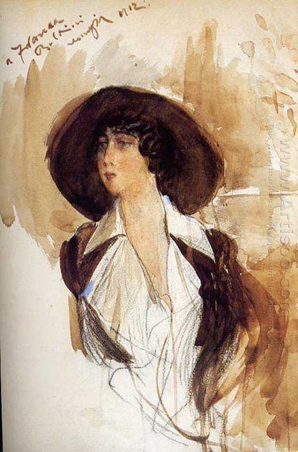 Portrait Of Donna Franca Florio 1912