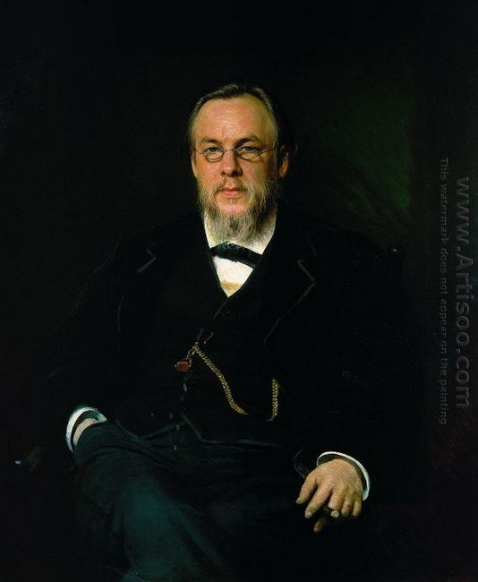 Portrait Of Dr Sergei Petrovich Botkin 1880