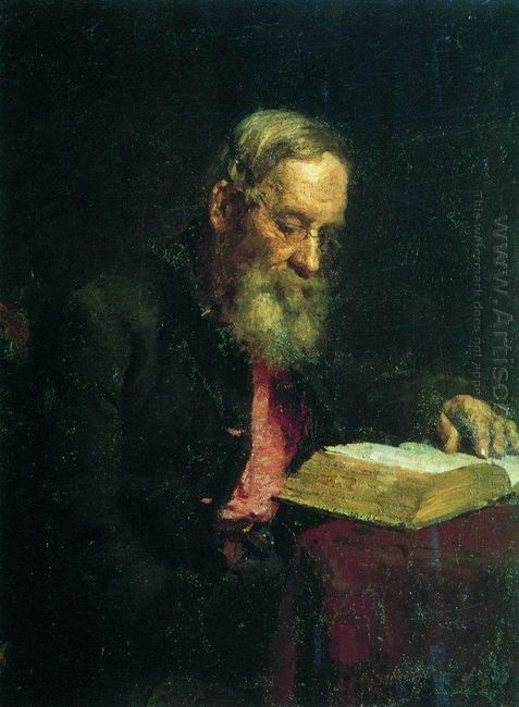 Portrait Of Efim Repin The Artist S Father 1879