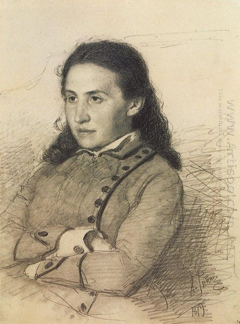 Portrait Of E G Mamontova 1879