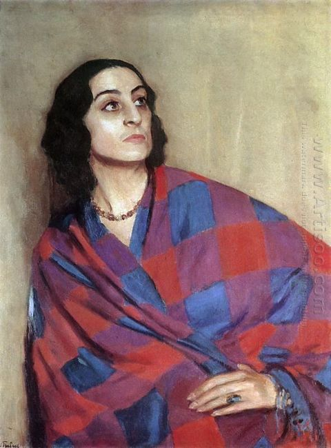 Portrait Of E G Nikulina Volkonskaya