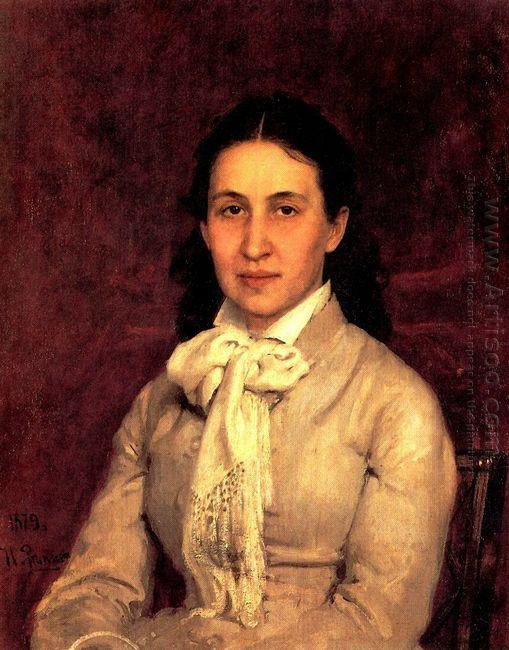 Portrait Of E Mamontova 1879