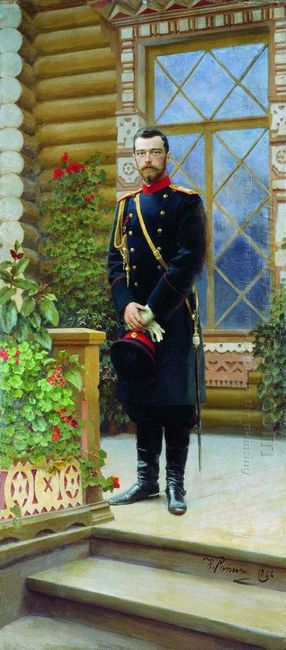 Portrait Of Emperor Nicholas Ii On The Porch 1896