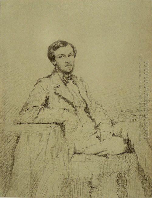 Portrait Of Eugene Lacheur 1852