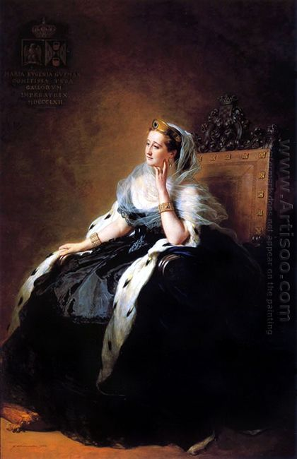 Portrait Of Eug Nie Empress Of The French