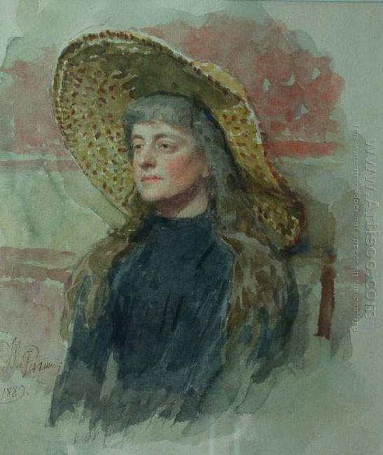 Portrait Of E Zvantseva 1889