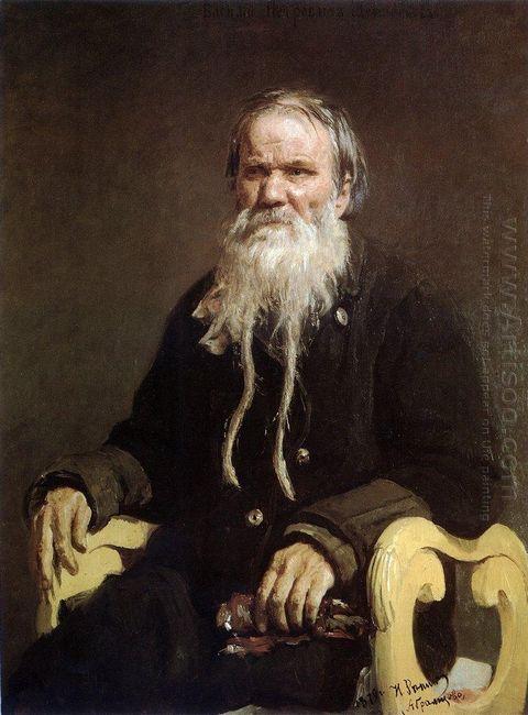 Portrait Of Folk Story Teller V P Schegolenkov 1879
