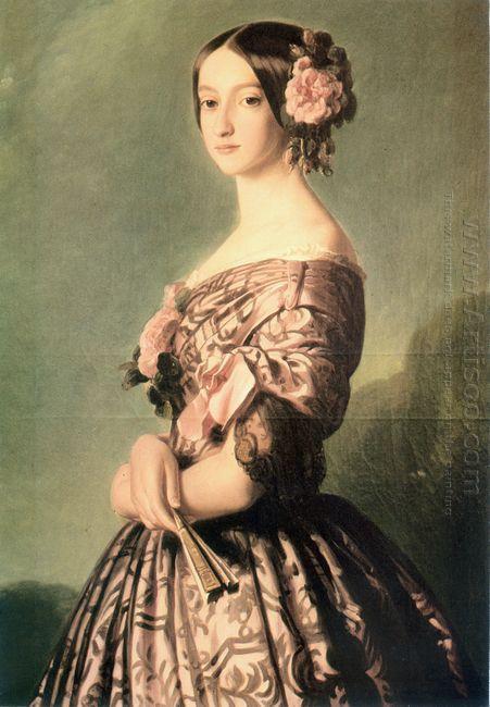 Portrait Of Francisca Caroline Gonzaga De Bragan A Princesse De