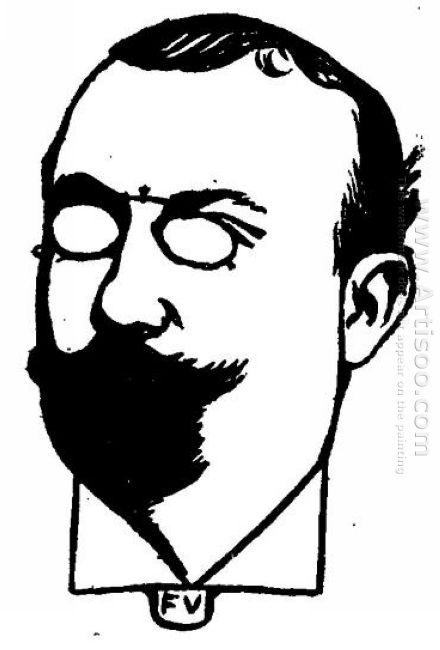 Portrait Of French Writer Henri Mazel 1898