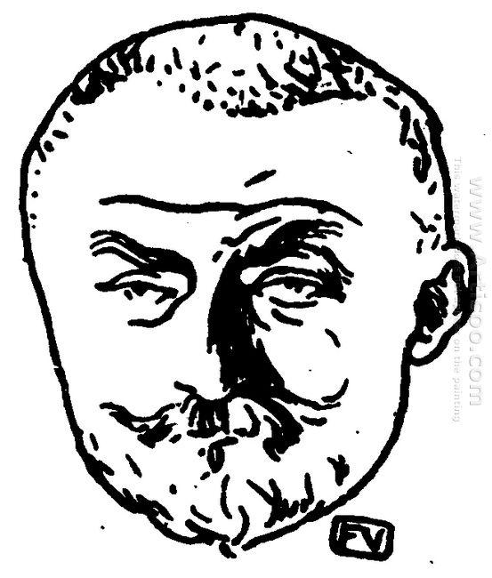 Portrait Of French Writer Joris Karl Huysmans 1898