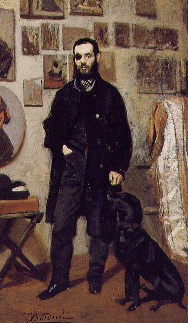 Portrait Of Giuseppe Abbati 1865