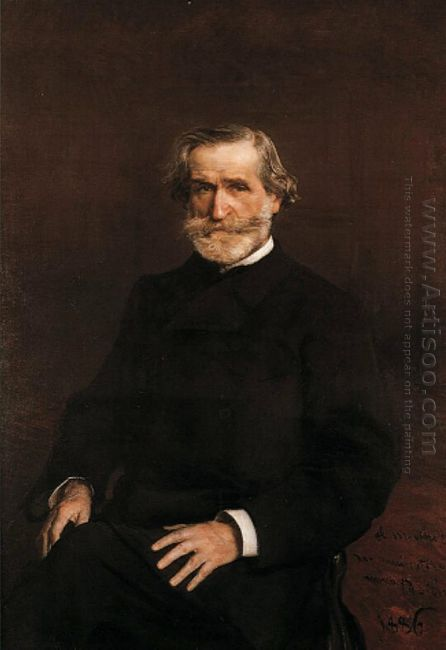 Portrait Of Guiseppe Verdi 1813 1901 1886