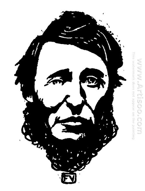 Portrait Of Henry David Thoreau 1896