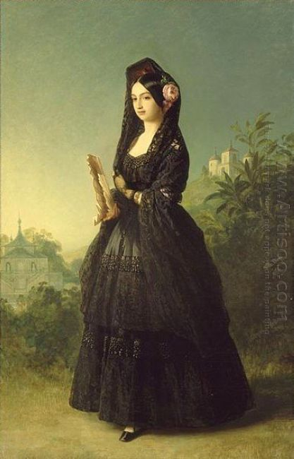 Portrait Of Infanta Luisa Fernanda Of Spain Duchess Of Montpesie