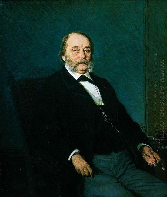Portrait Of Ivan Aleksandrovich Goncharov 1874
