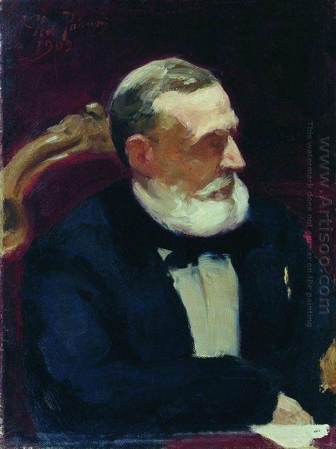 Portrait Of Ivan Ivanovich Shamshin 1902