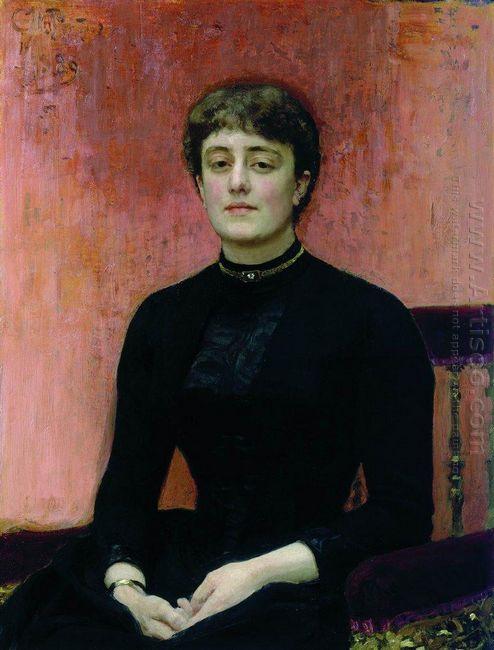 Portrait Of Jelizaveta Zvantseva 1889