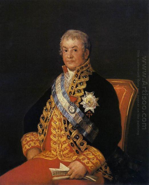 Portrait Of José Antonio Marqués De Caballero 1807