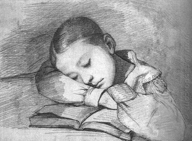 Portrait Of Juliette Courbet As A Sleeping Child 1841