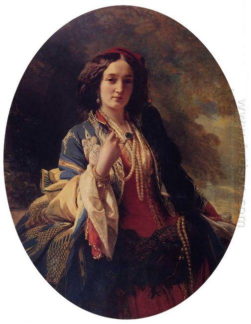 Portrait Of Katarzyna Potocka 1854