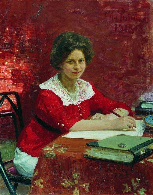 Portrait Of K B Boleslavova 1913