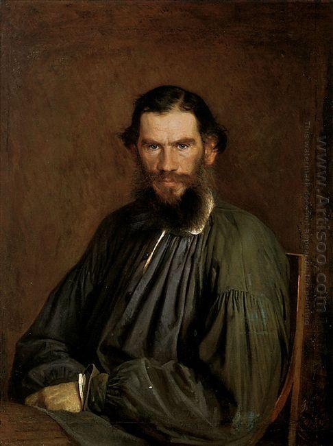 Portrait Of Leo Tolstoy 1873