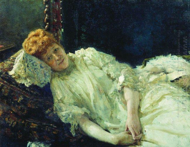Portrait Of Luiza Mersi D Arzhanto 1890