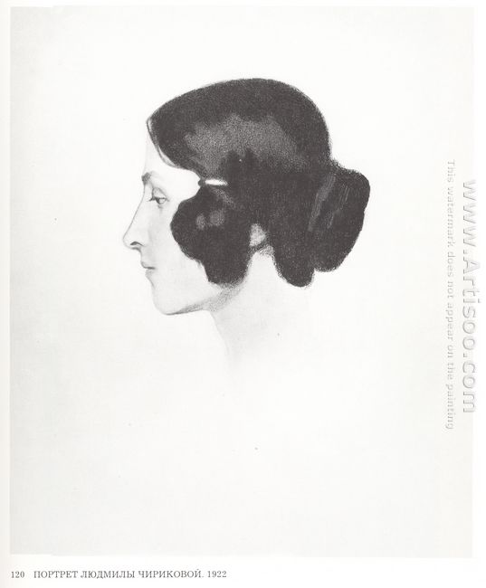 Portrait Of Lyudmila Chirikova 1922