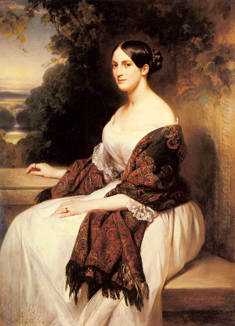 Portrait Of Madame Ackerman The Wife Of The Chief Finance Minist