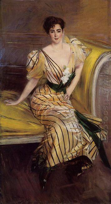 Portrait Of Madame Josephina Alvear De Errazuriz 1892